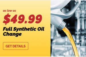 full synthetic oil change coupon