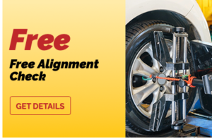free tire alignment coupon